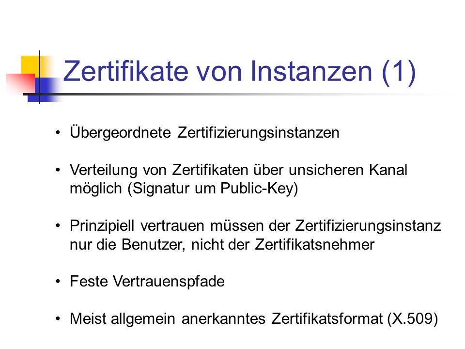 Zertifikate von Instanzen (1)