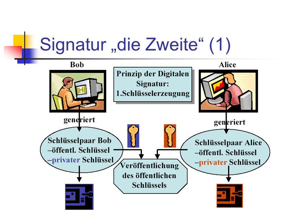 """Signatur """"die Zweite (1)"""