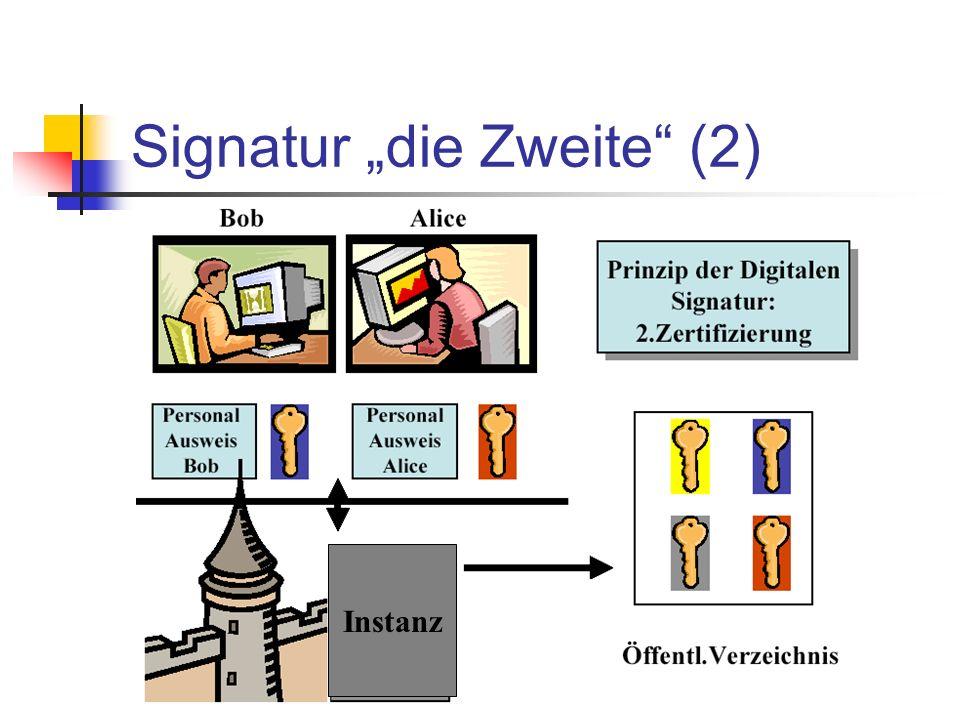 """Signatur """"die Zweite (2)"""