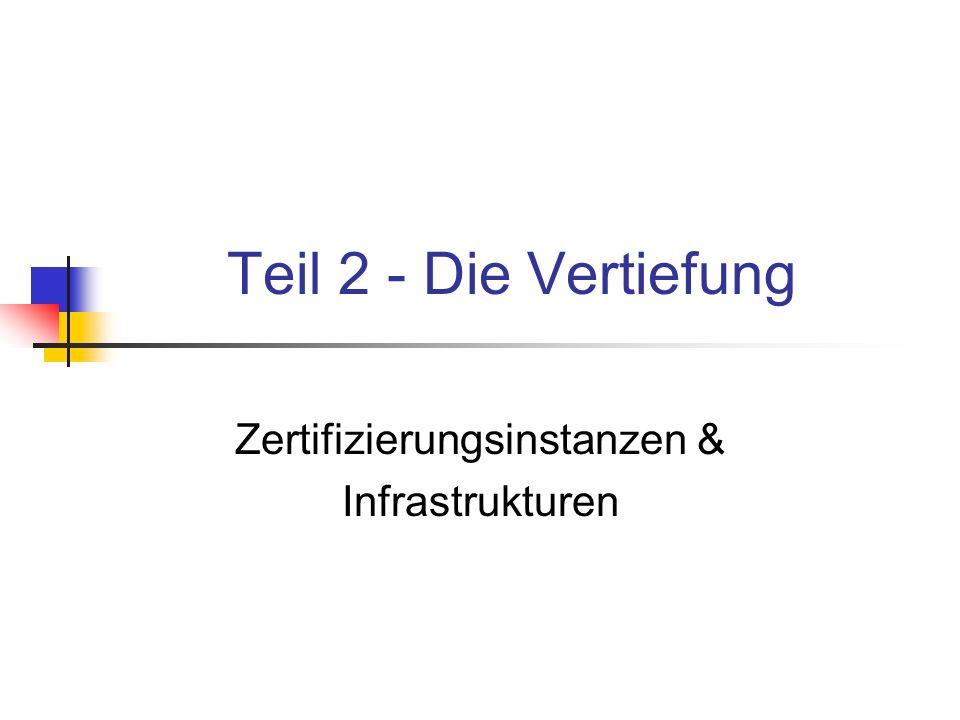 Zertifizierungsinstanzen & Infrastrukturen