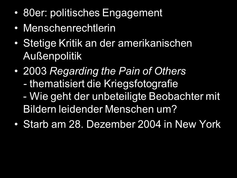 80er: politisches Engagement