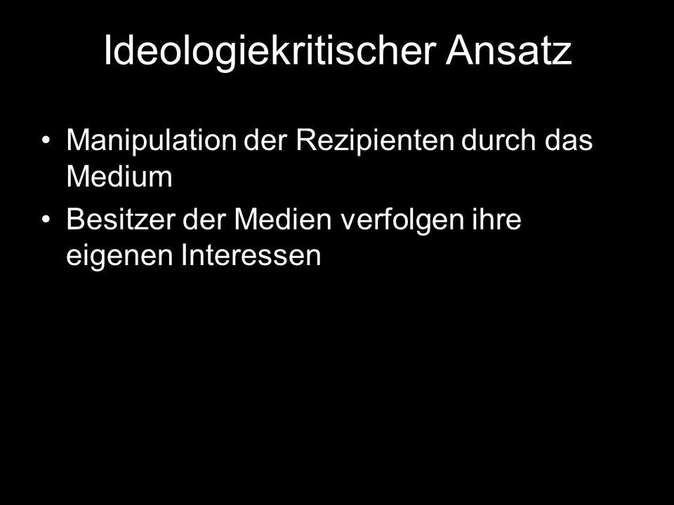Ideologiekritischer Ansatz