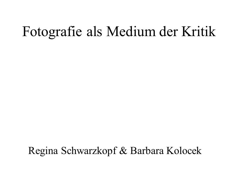 Fotografie als Medium der Kritik