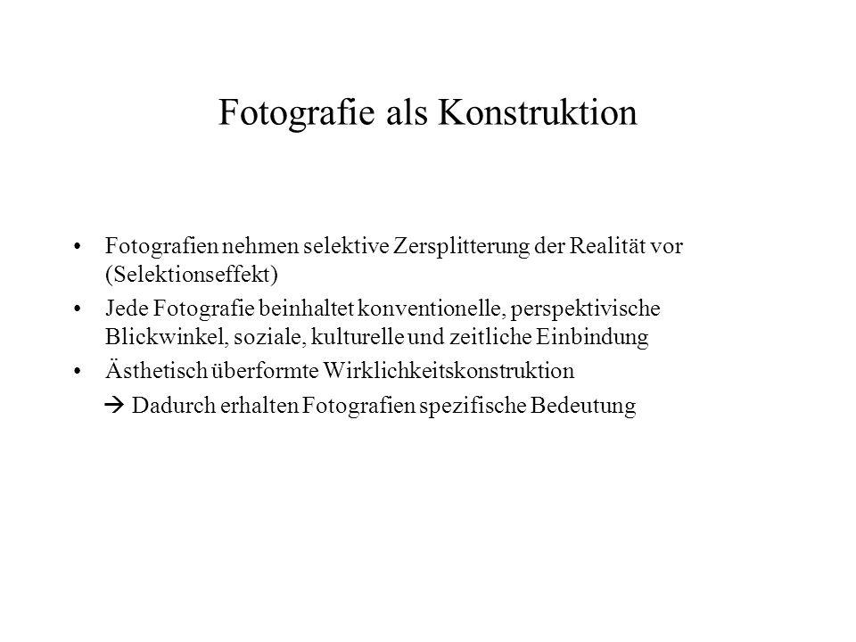 Fotografie als Konstruktion