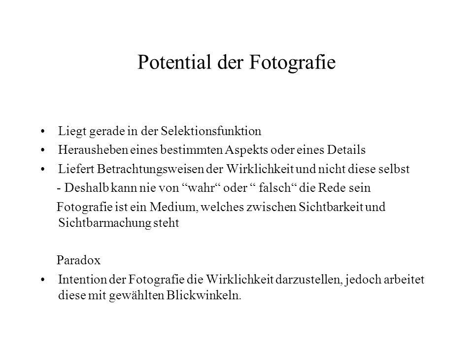 Potential der Fotografie