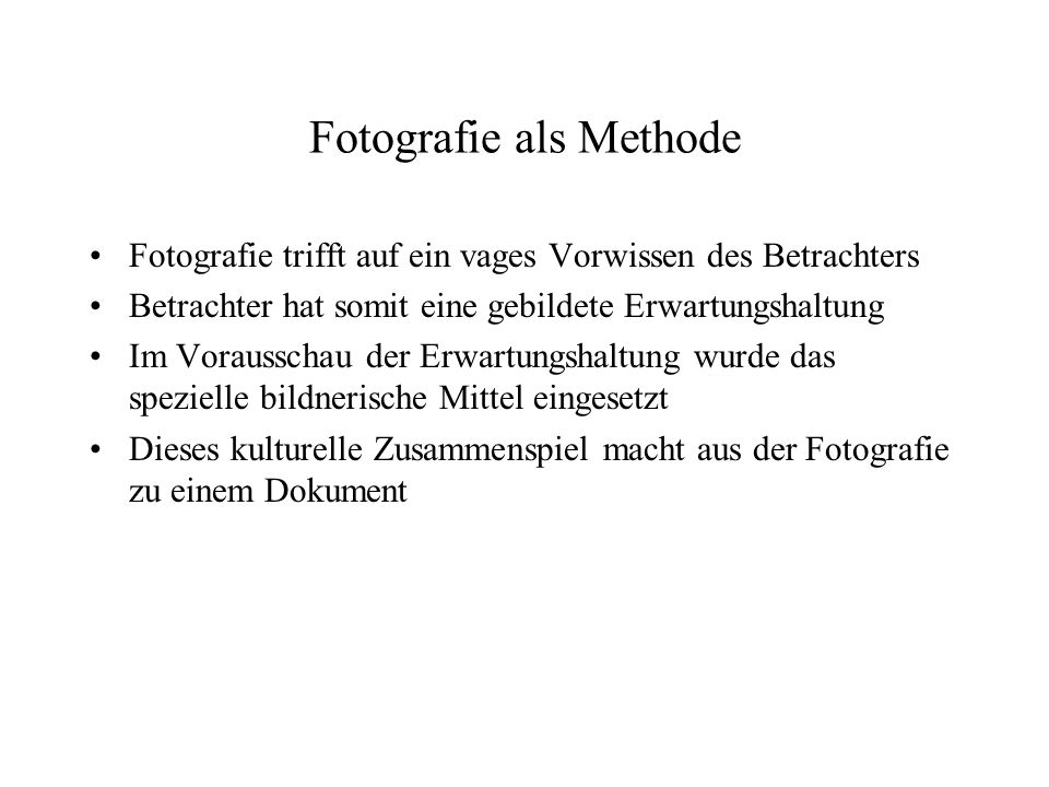 Fotografie als Methode