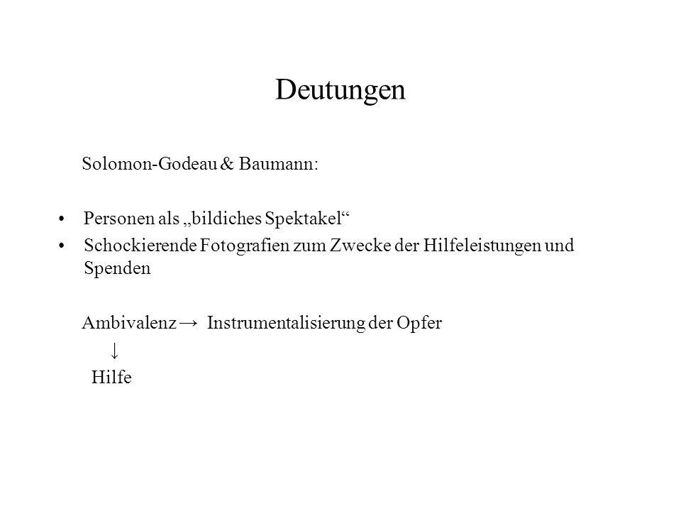 """Deutungen Solomon-Godeau & Baumann: Personen als """"bildiches Spektakel"""