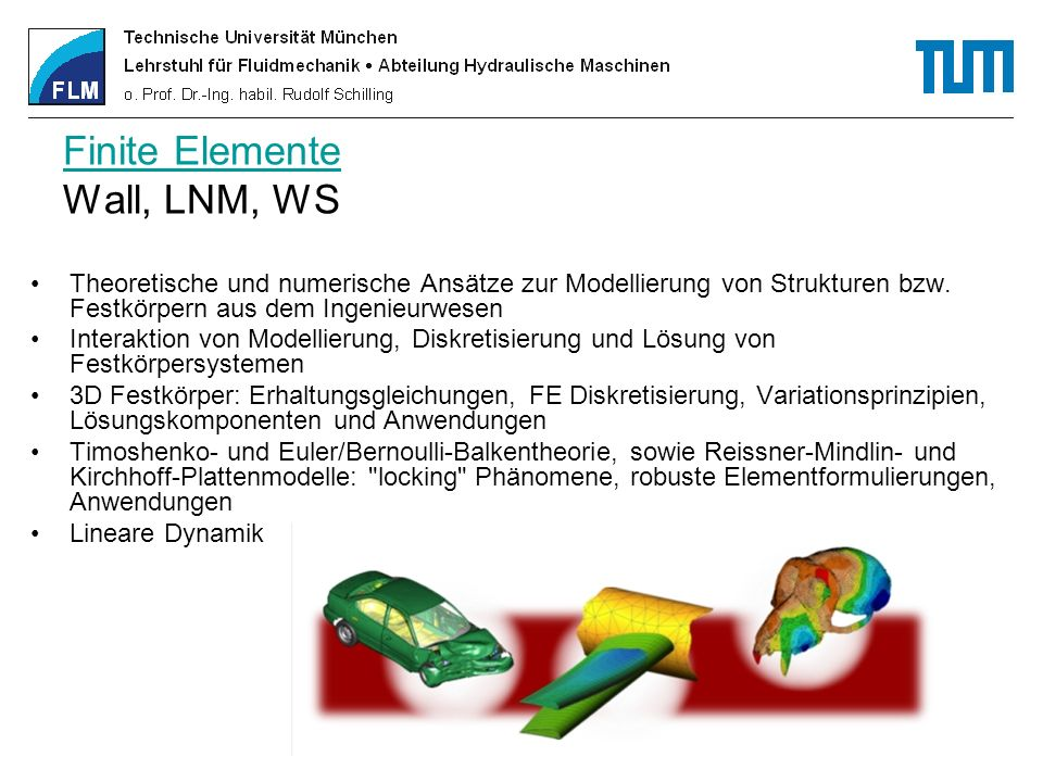 Finite Elemente Wall, LNM, WS