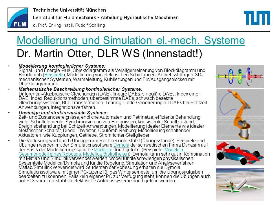 Modellierung und Simulation el. -mech. Systeme Dr