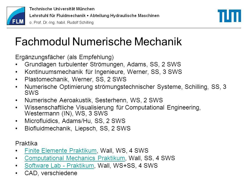 Fachmodul Numerische Mechanik