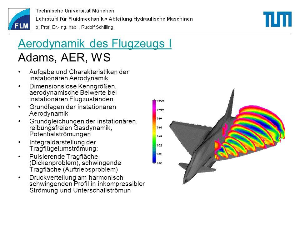 Aerodynamik des Flugzeugs I Adams, AER, WS