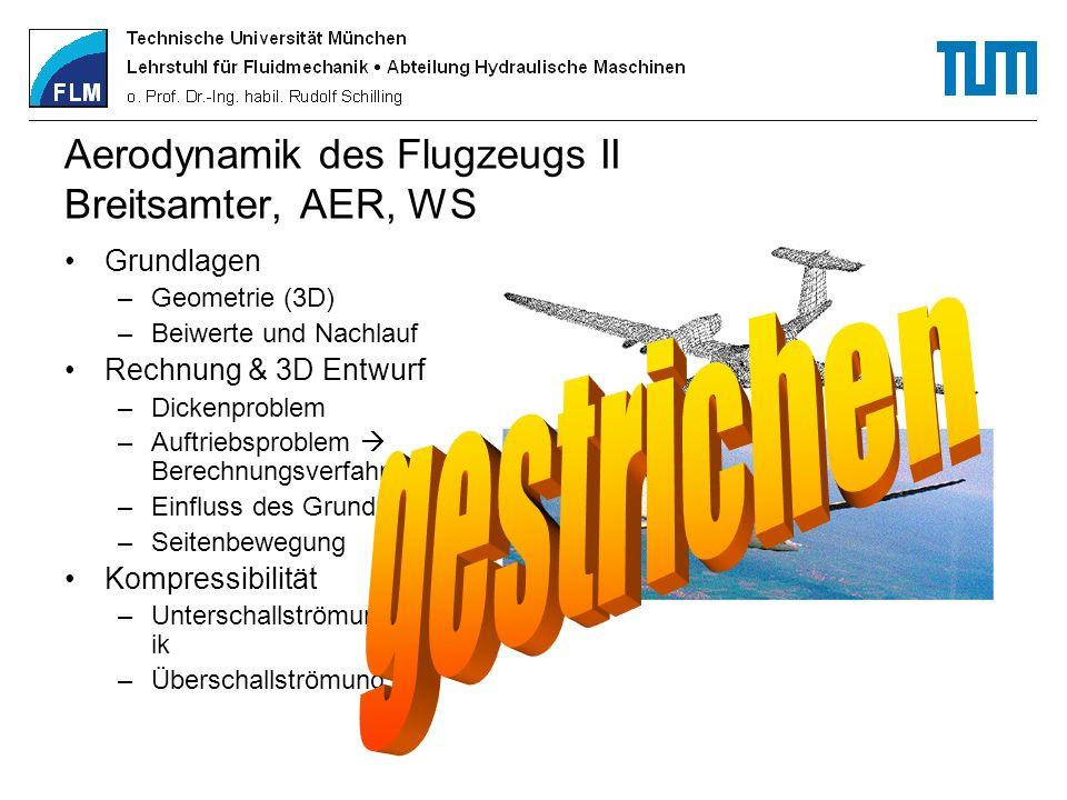 Aerodynamik des Flugzeugs II Breitsamter, AER, WS