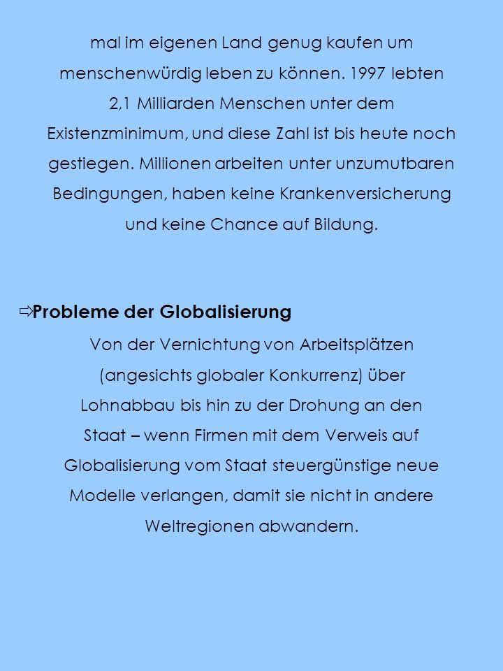 Probleme der Globalisierung