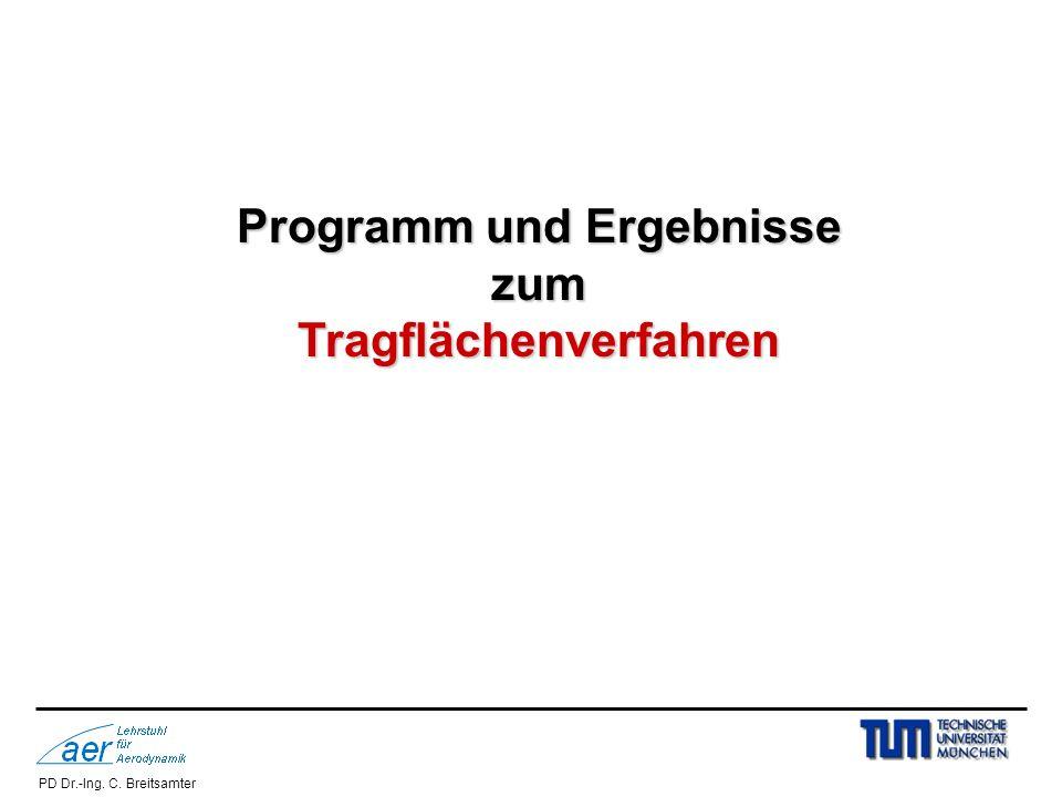 Programm und Ergebnisse Tragflächenverfahren