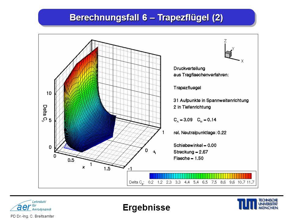 Berechnungsfall 6 – Trapezflügel (2)