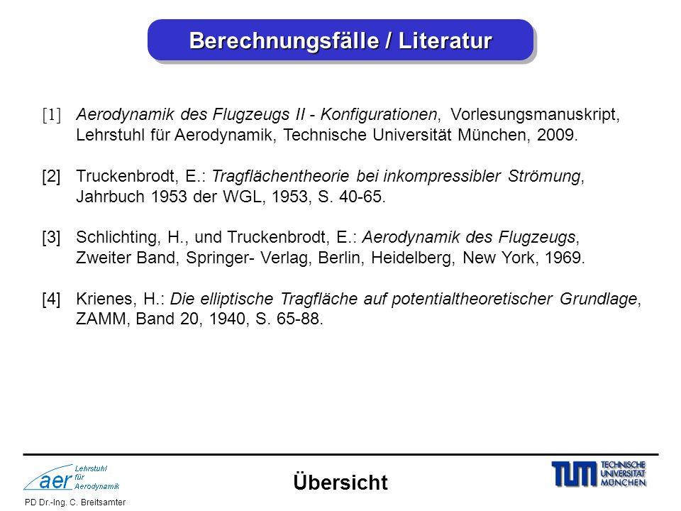 Berechnungsfälle / Literatur