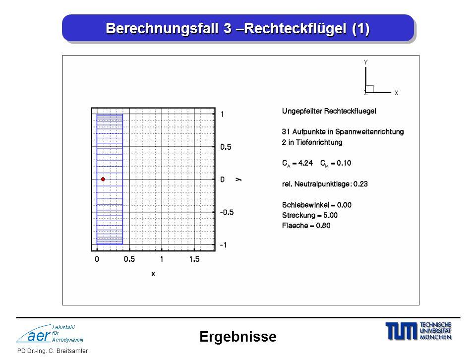 Berechnungsfall 3 –Rechteckflügel (1)