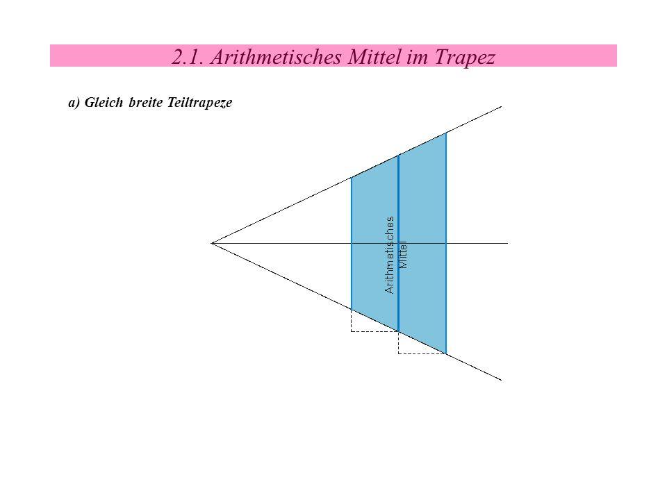 2.1. Arithmetisches Mittel im Trapez