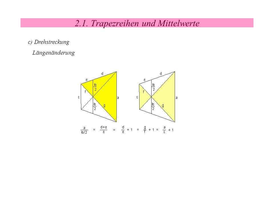 2.1. Trapezreihen und Mittelwerte