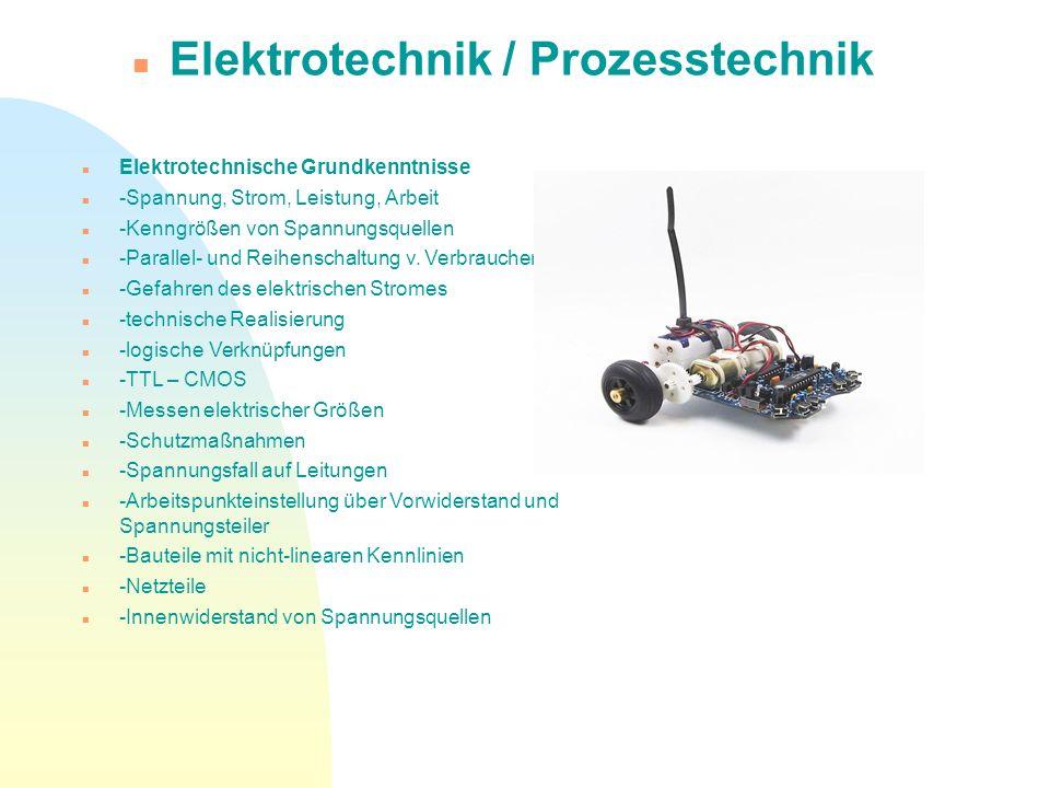 Elektrotechnik / Prozesstechnik