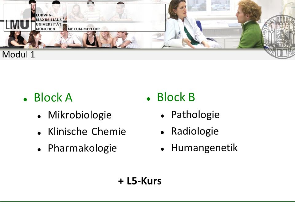 Block A Block B Mikrobiologie Pathologie Klinische Chemie Radiologie