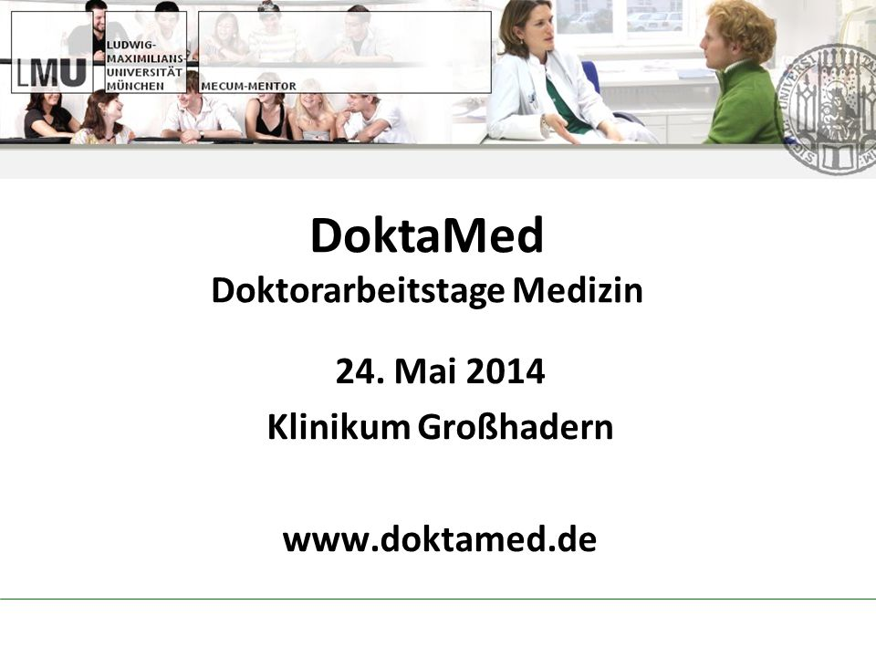 DoktaMed Doktorarbeitstage Medizin
