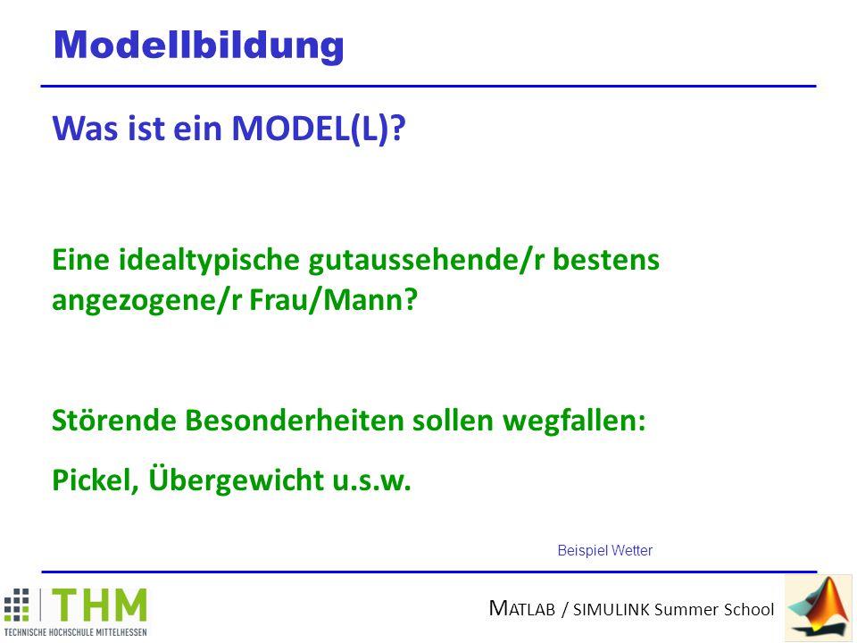 Modellbildung Was ist ein MODEL(L)