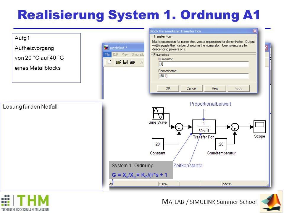 Realisierung System 1. Ordnung A1
