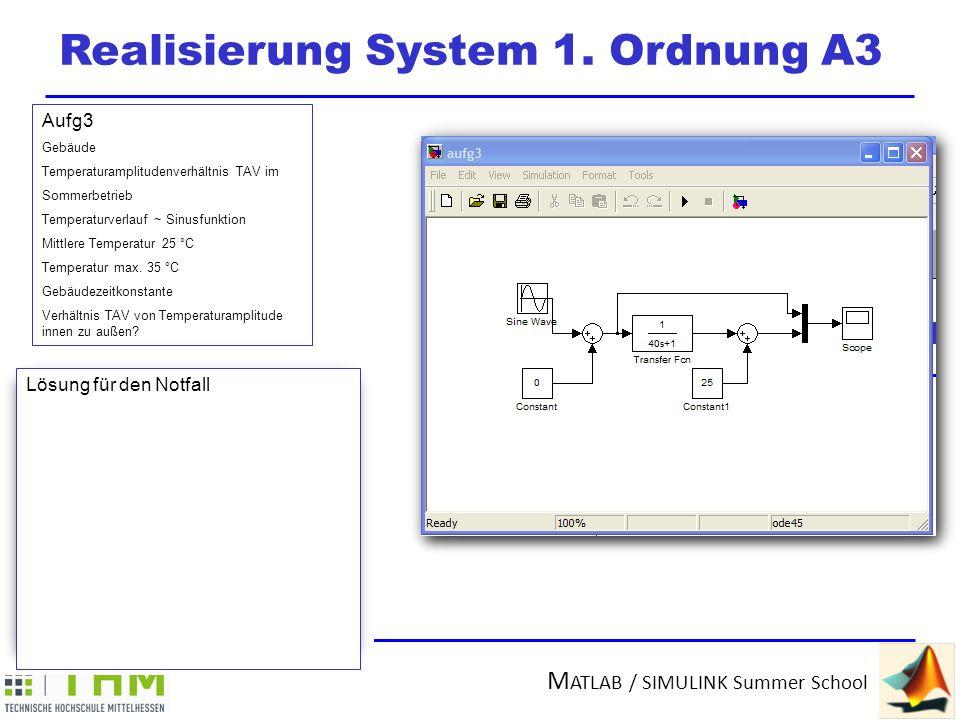 Realisierung System 1. Ordnung A3