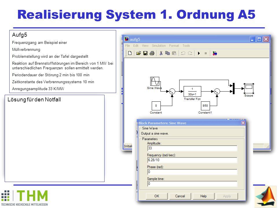 Realisierung System 1. Ordnung A5