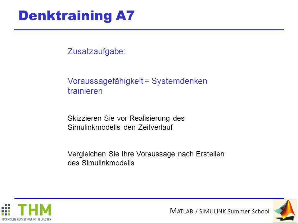 Denktraining A7 Zusatzaufgabe: