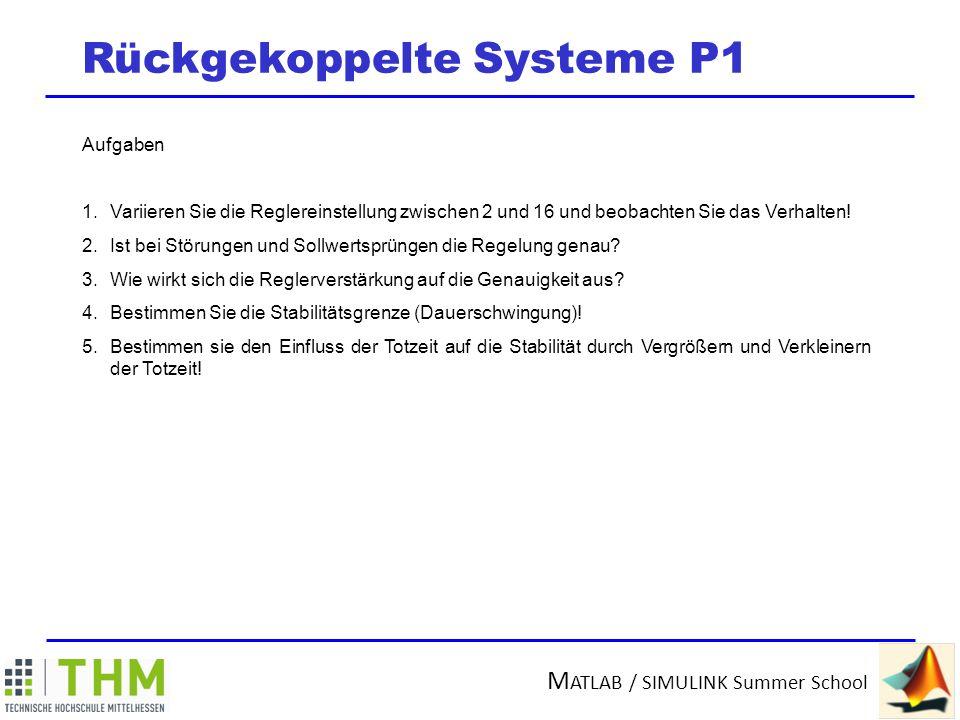 Rückgekoppelte Systeme P1