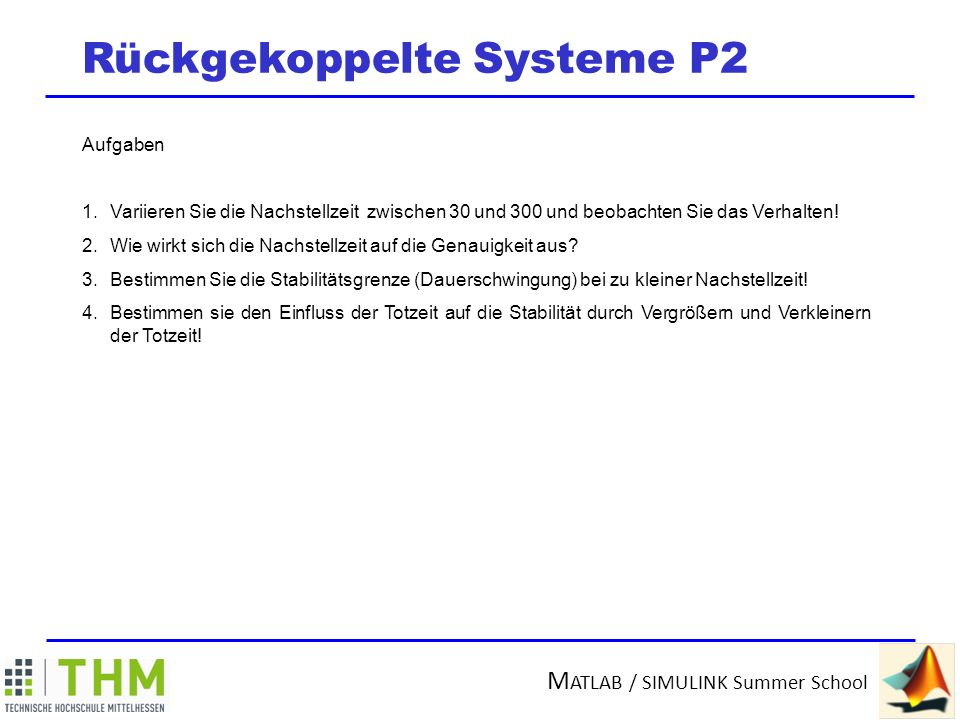 Rückgekoppelte Systeme P2