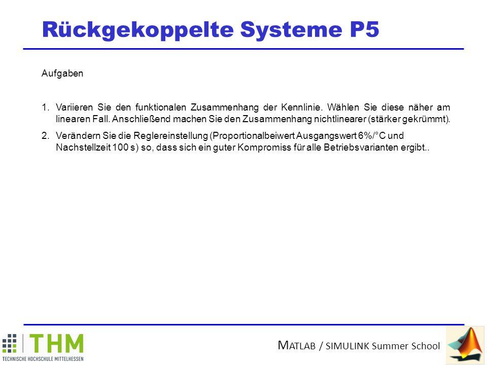 Rückgekoppelte Systeme P5