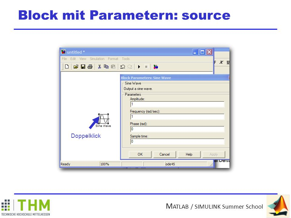 Block mit Parametern: source