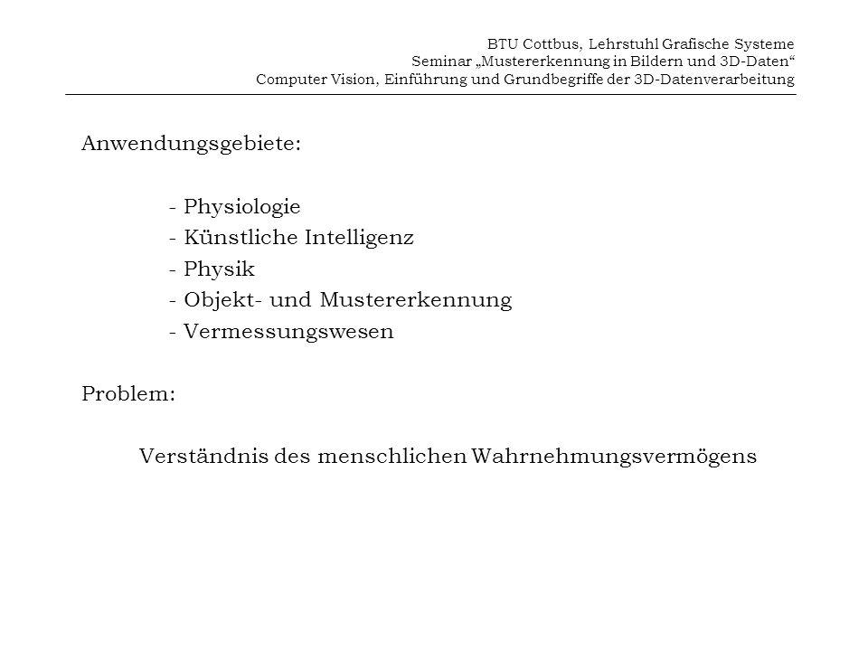 - Künstliche Intelligenz - Physik - Objekt- und Mustererkennung