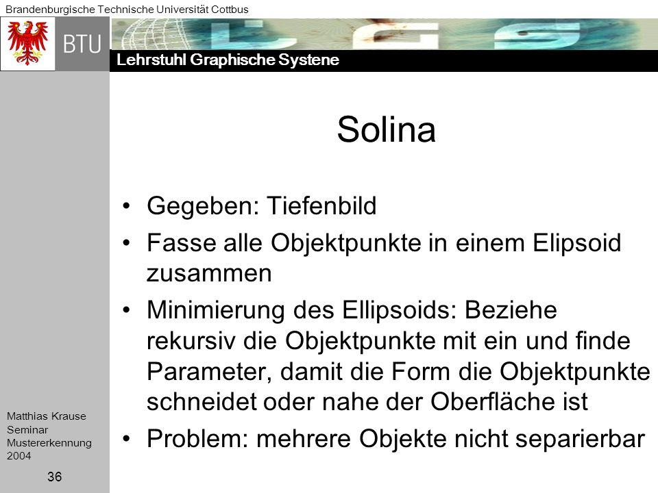 Solina Gegeben: Tiefenbild