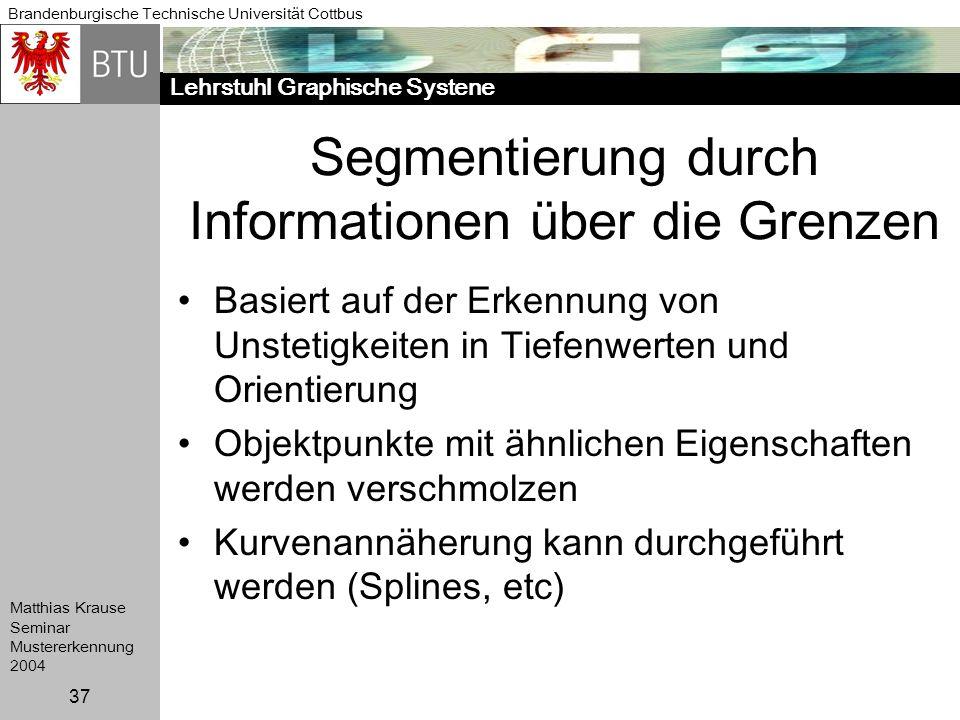 Segmentierung durch Informationen über die Grenzen