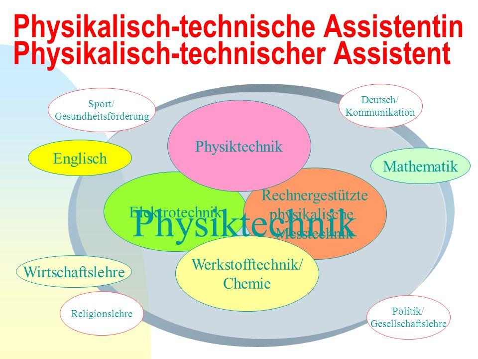 Physikalisch-technische Assistentin Physikalisch-technischer Assistent