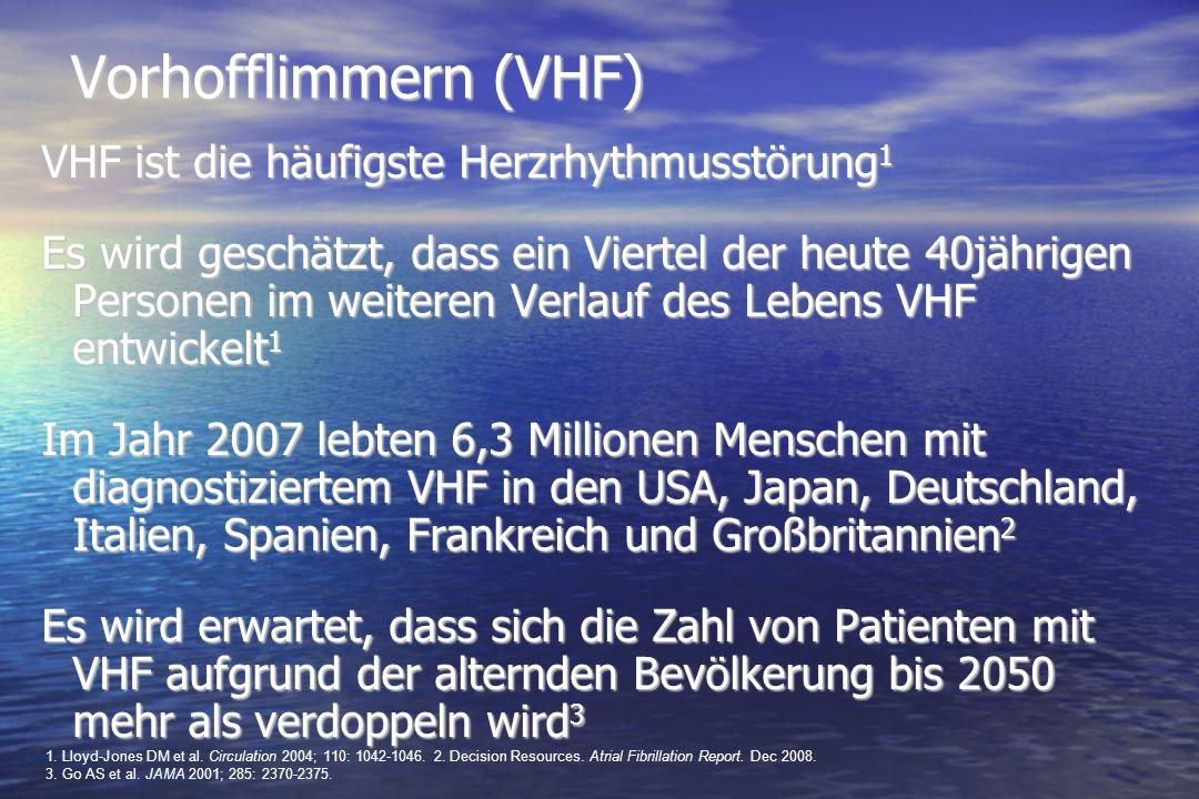 Vorhofflimmern (VHF) VHF ist die häufigste Herzrhythmusstörung1