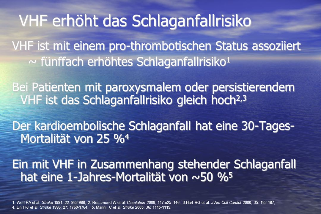 VHF erhöht das Schlaganfallrisiko