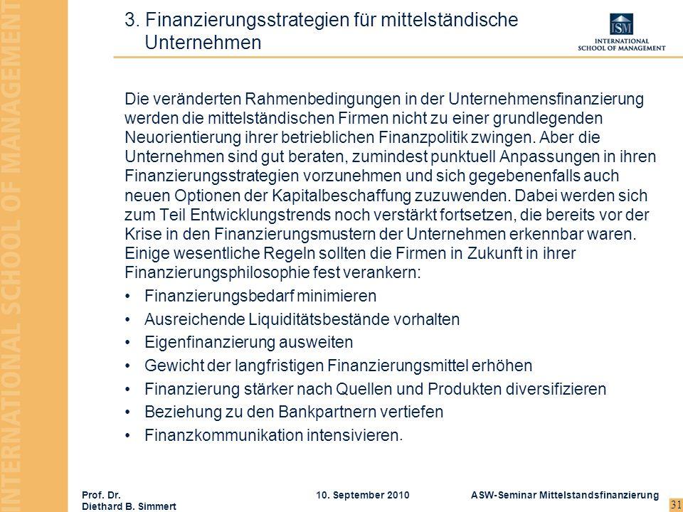 3. Finanzierungsstrategien für mittelständische Unternehmen