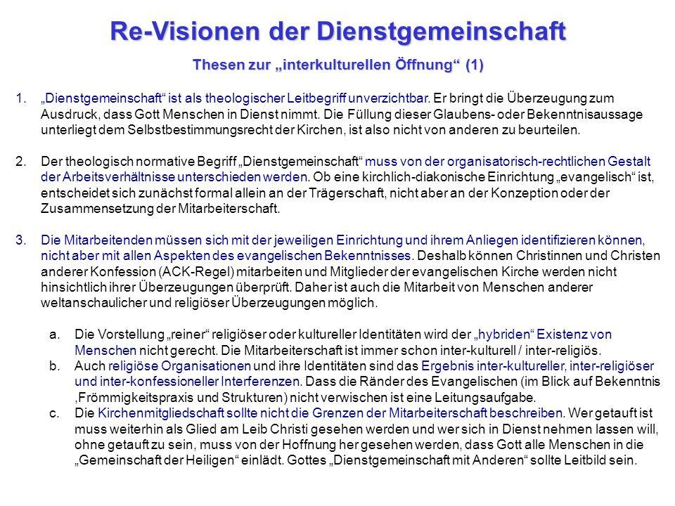 """Re-Visionen der Dienstgemeinschaft Thesen zur """"interkulturellen Öffnung (1)"""