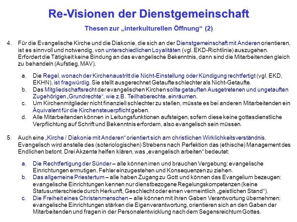 """Re-Visionen der Dienstgemeinschaft Thesen zur """"interkulturellen Öffnung (2)"""