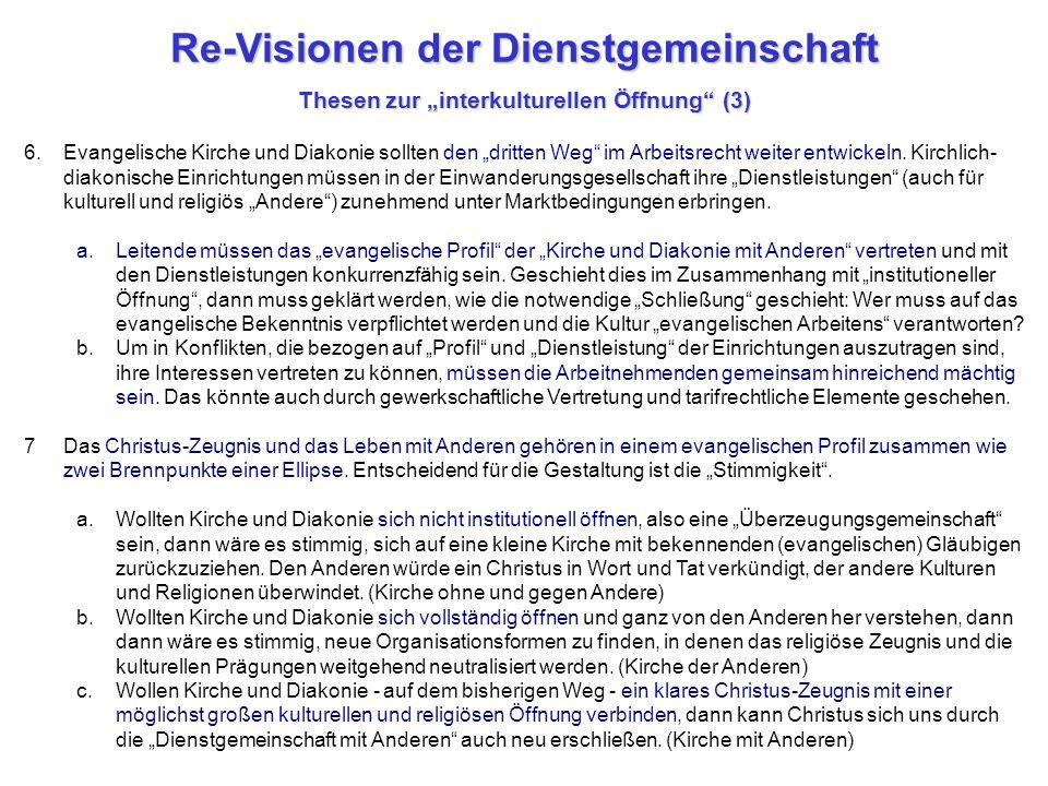 """Re-Visionen der Dienstgemeinschaft Thesen zur """"interkulturellen Öffnung (3)"""