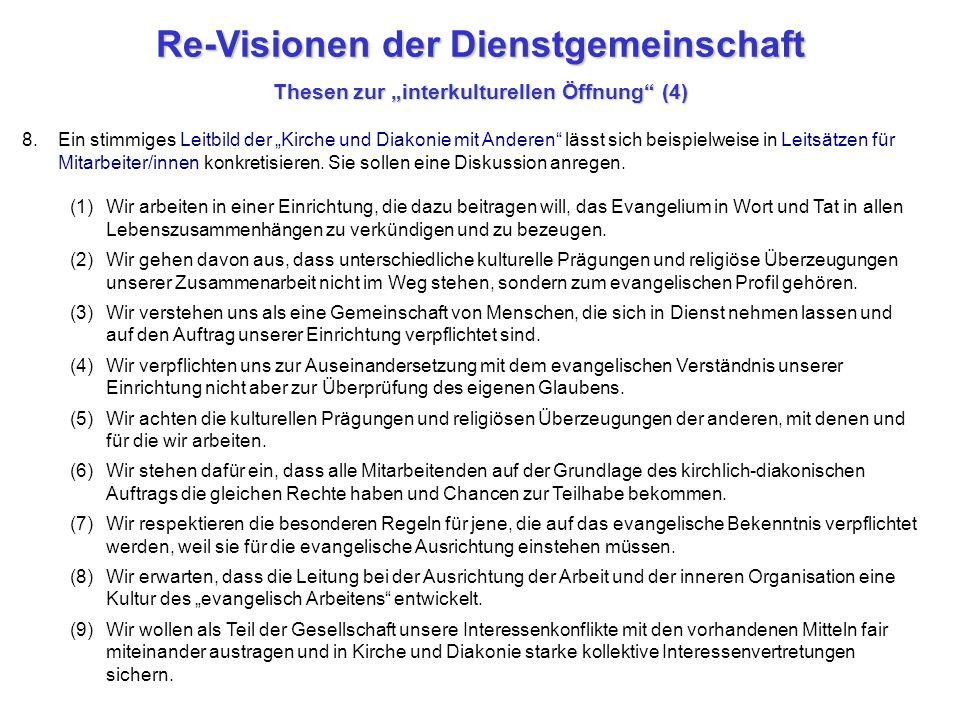 """Re-Visionen der Dienstgemeinschaft Thesen zur """"interkulturellen Öffnung (4)"""