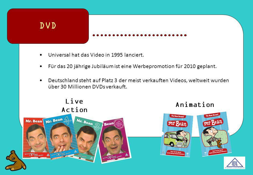 DVD Live Action Animation Universal hat das Video in 1995 lanciert.