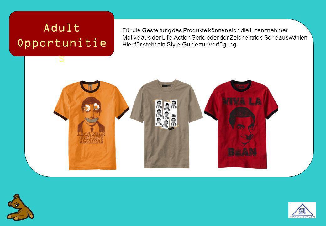 Adult Opportunities Für die Gestaltung des Produkte können sich die Lizenznehmer.