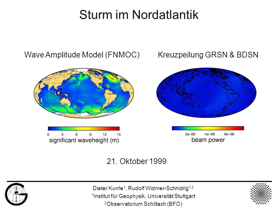 Sturm im Nordatlantik 21. Oktober 1999