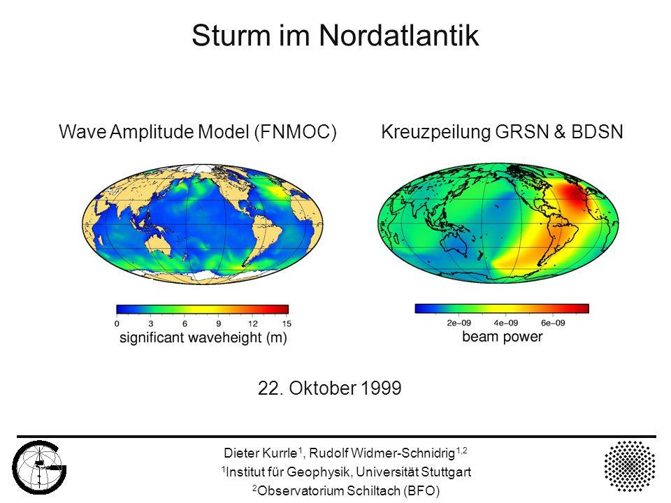 Sturm im Nordatlantik 22. Oktober 1999
